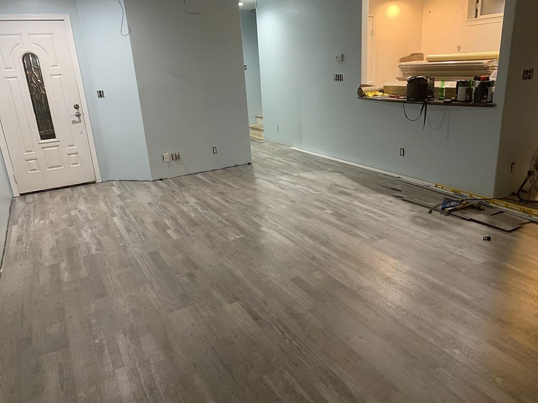 Builder's Choice: Grey Ash waterproof vinyl flooring in Kapolei, HI