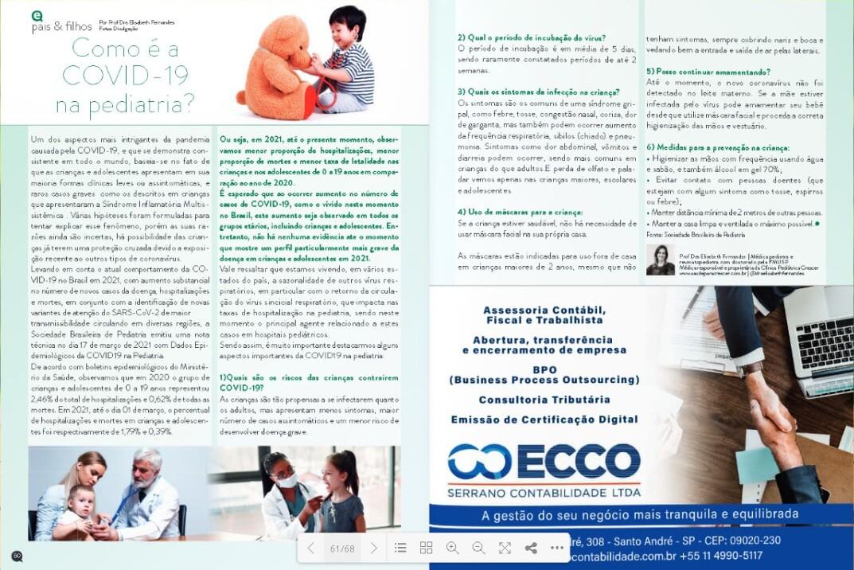 Julho de 2021 | Como é a COVID-19 na pediatria? | Revista Expressão ABC e Litoral