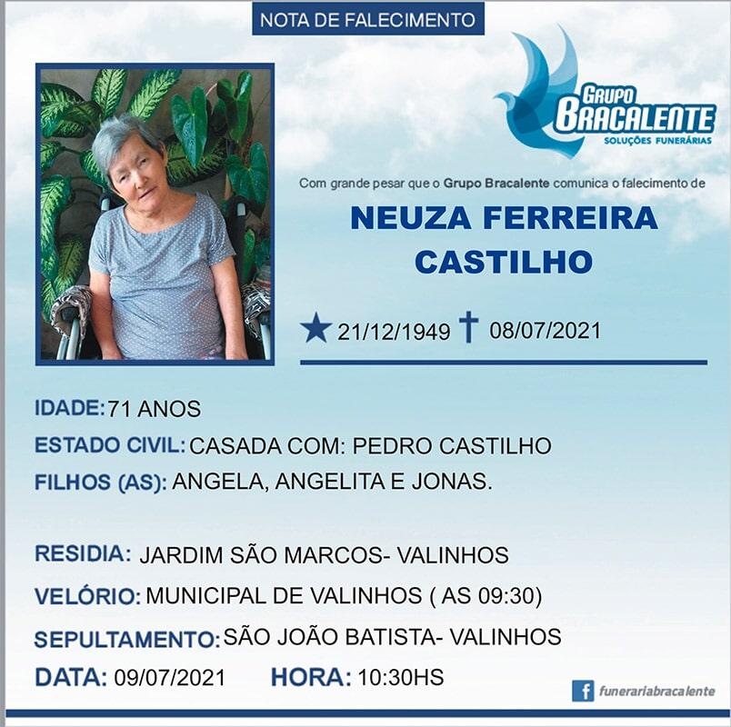 Neuza Ferreira Castilho | 21/12/1949 - 08/07/2021