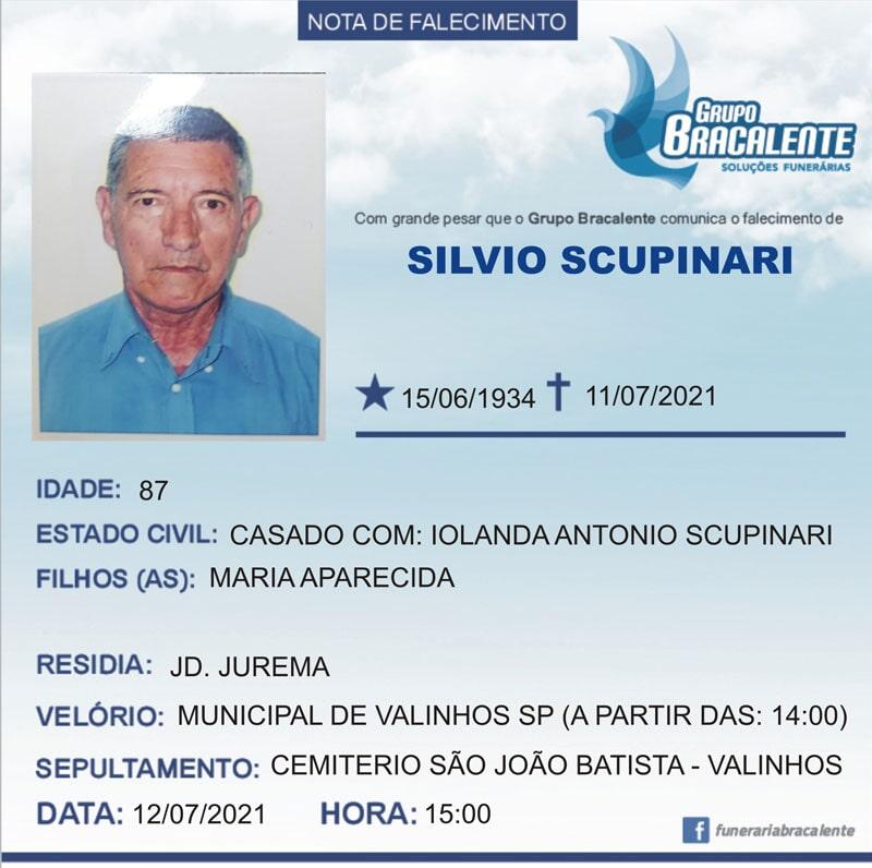 Silvio Scupinari | 15/06/1934 - 11/07/2021
