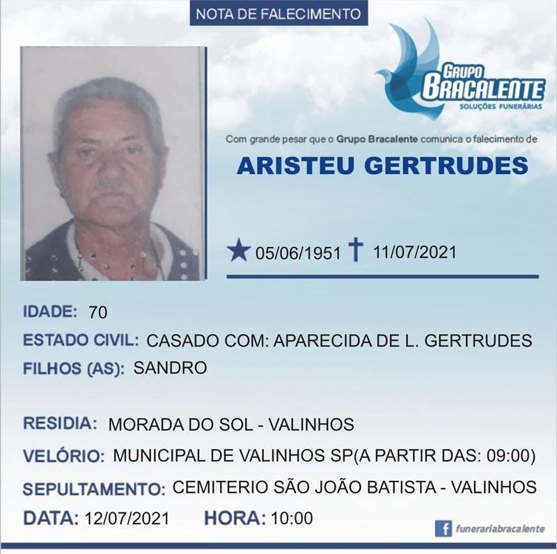 Aristeu Gertrudes | 05/06/1951 - 11/07/2021