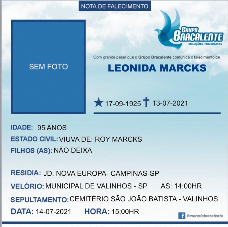 Leonidas Marcks | 17/09/1925 - 13/07/2021