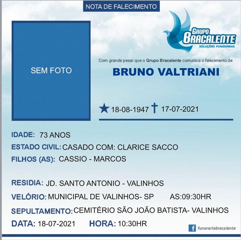 Bruno Valtriani | 18/08/1947 - 17/07/2021