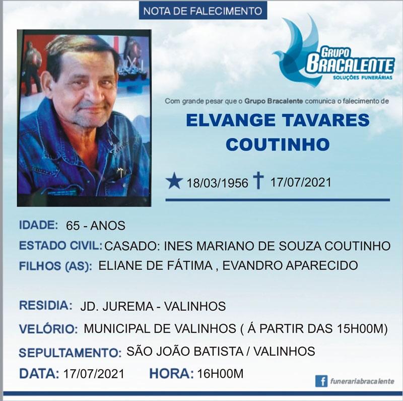 Elvange Tavares Coutinho | 18/03/1956 - 17/07/2021