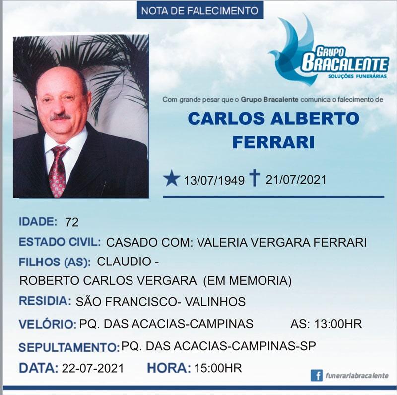Carlos Alberto Ferrari | 13/07/1949 - 21/07/2021