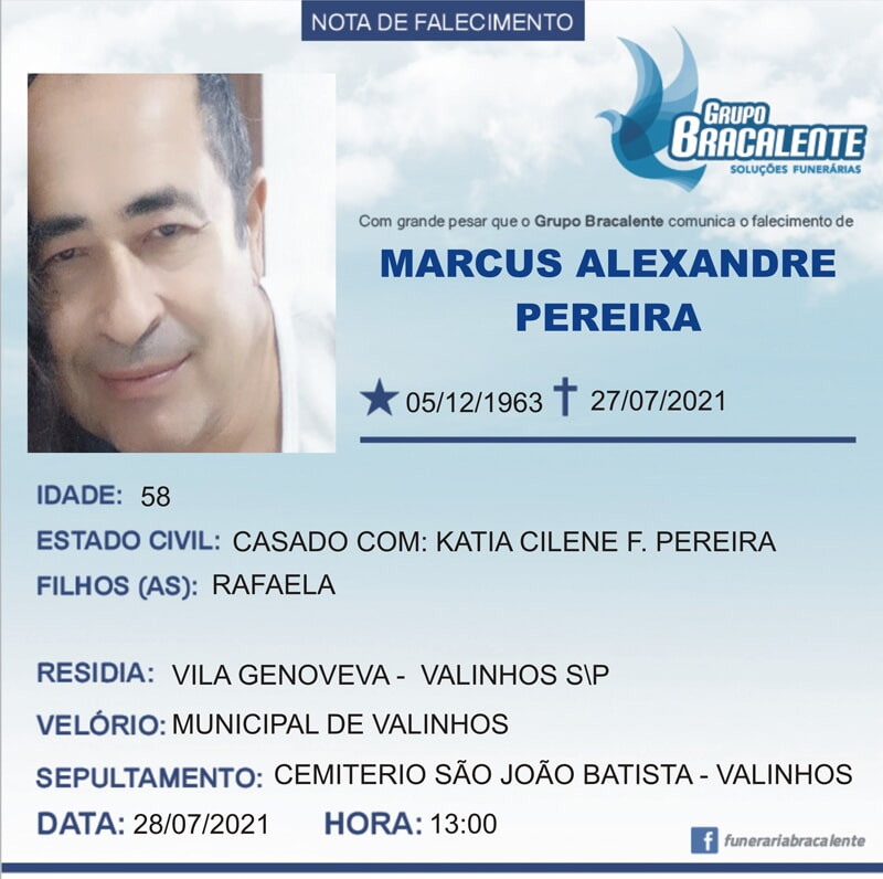 Marcus Alexandre Pereira | 05/12/1963 - 27/07/2021