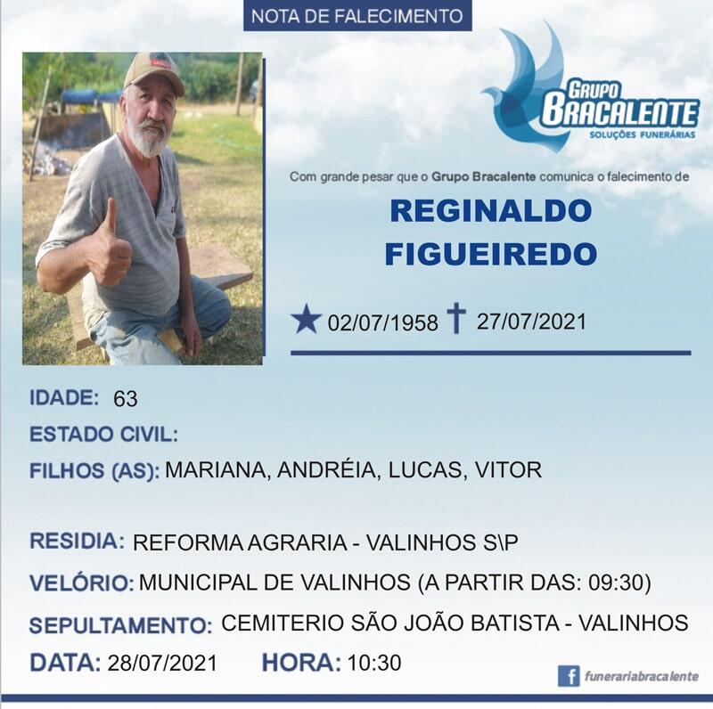 Reginaldo Figueiredo | 02/07/1958 - 27/07/2021