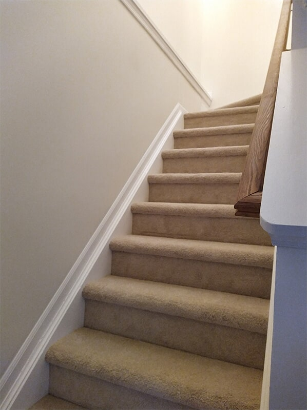 Carpet staircase in Rockville, MD from FLOORMAX