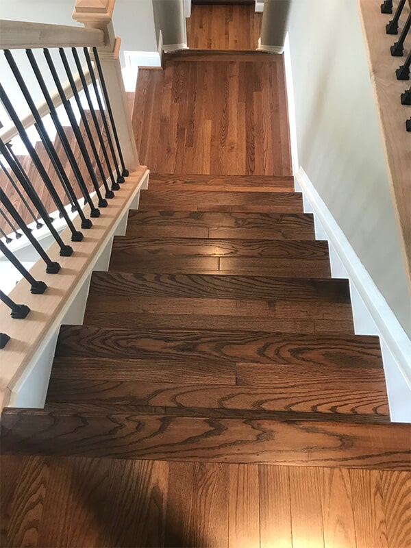 Hardwood stairs in Bethesda, MD from FLOORMAX