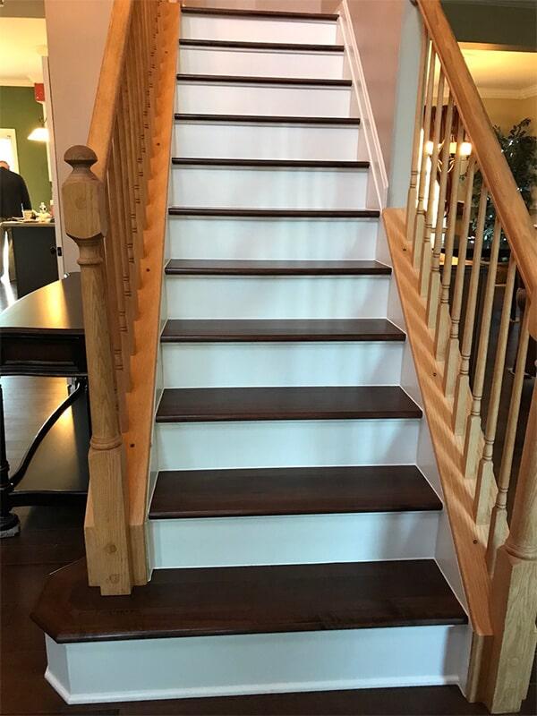 Wood stairs in Germantown, MD from FLOORMAX