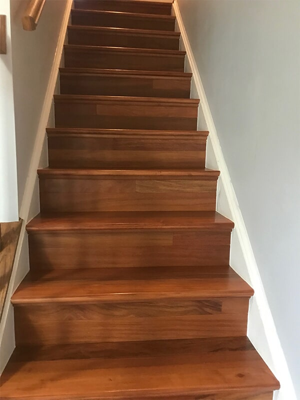 Wood stairs in Ellicott City, MD from FLOORMAX