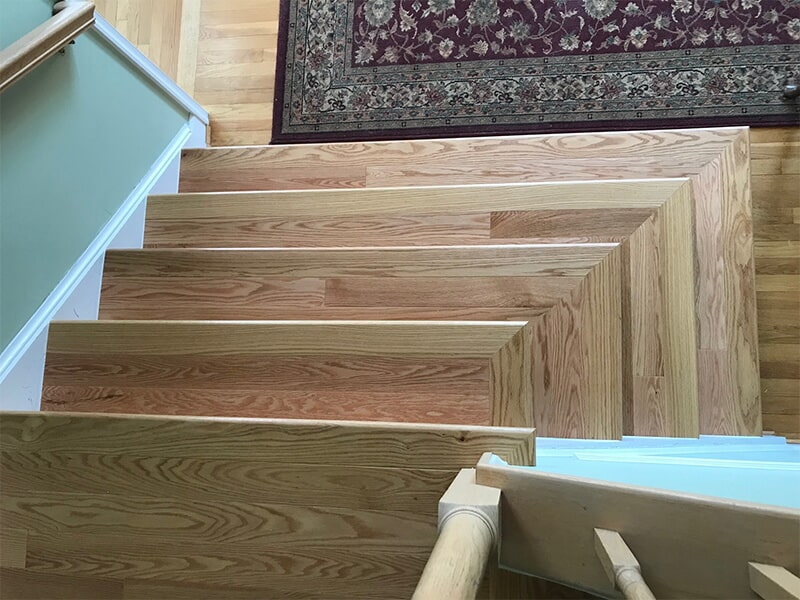 Hardwood stairs in Laurel, MD from FLOORMAX