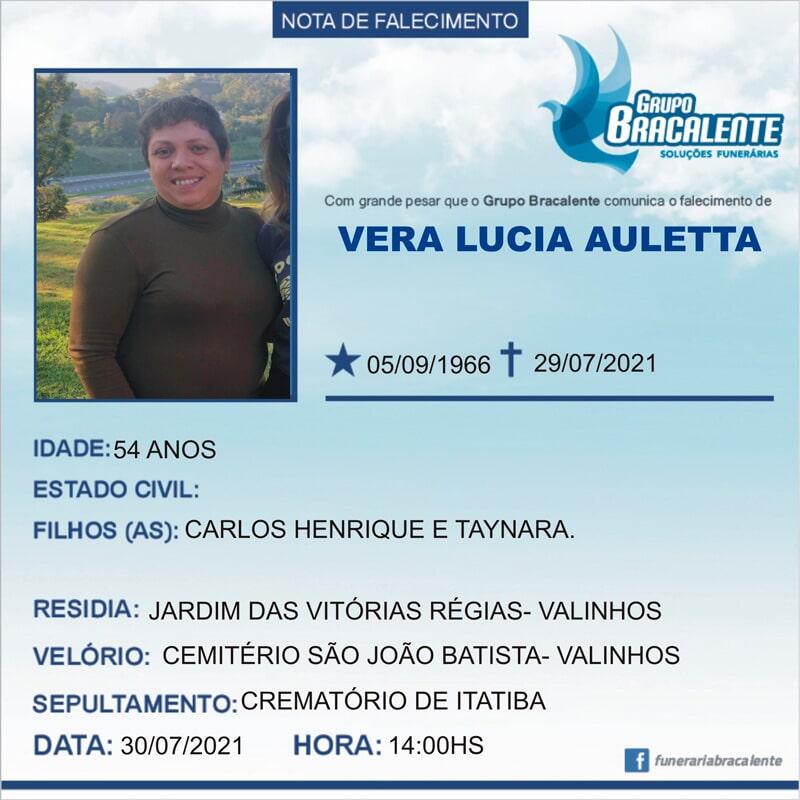 Vera Lucia Auletta | 05/09/1966 - 29/07/2021