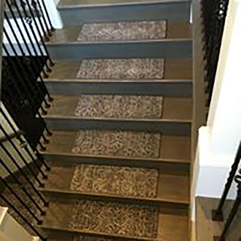 Kane Carpet custom stair treads in Lowell, IN from Yancey's House of Carpets