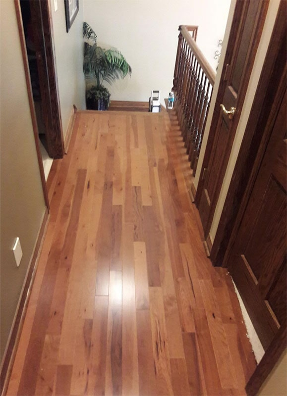 Hickory hardwood flooring in Scheraville, IN from Yancey's House of Carpets