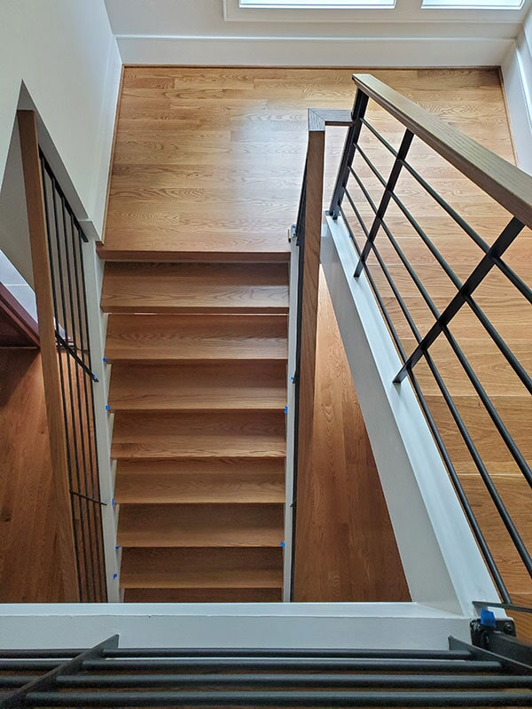 Hardwood staircase in  from Bell's Carpets & Floors