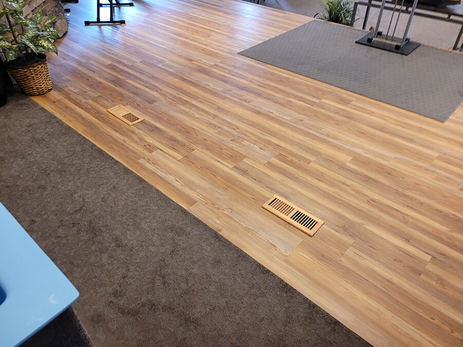 Wood plank floors from Carpet Outlet Of Shelby County in Alabaster, AL