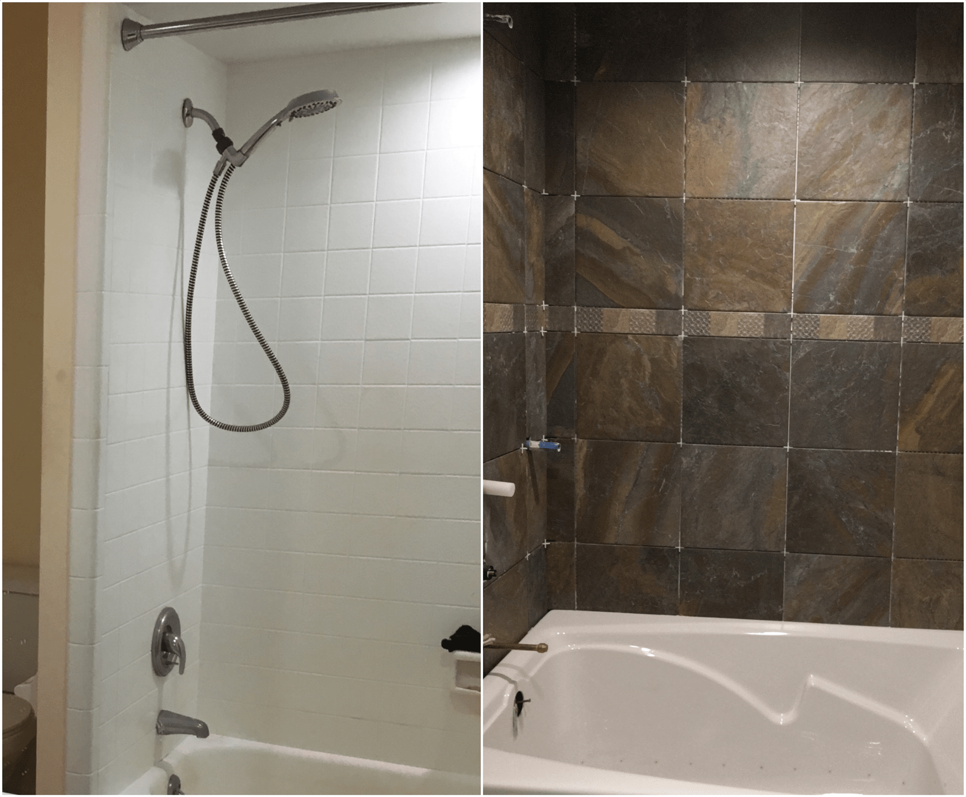 Bathroom tile installation in Jensen Beach, FL from Carpets Etc