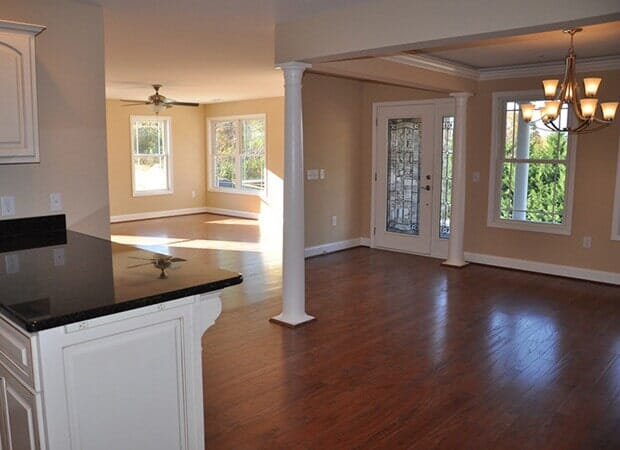 Living and dining room wood flooring in Hudson, NC from Munday Hardwoods, Inc