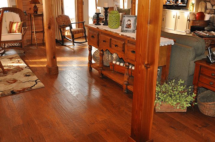 Lodge inspired wood flooring in Lenoir, NC from Munday Hardwoods, Inc