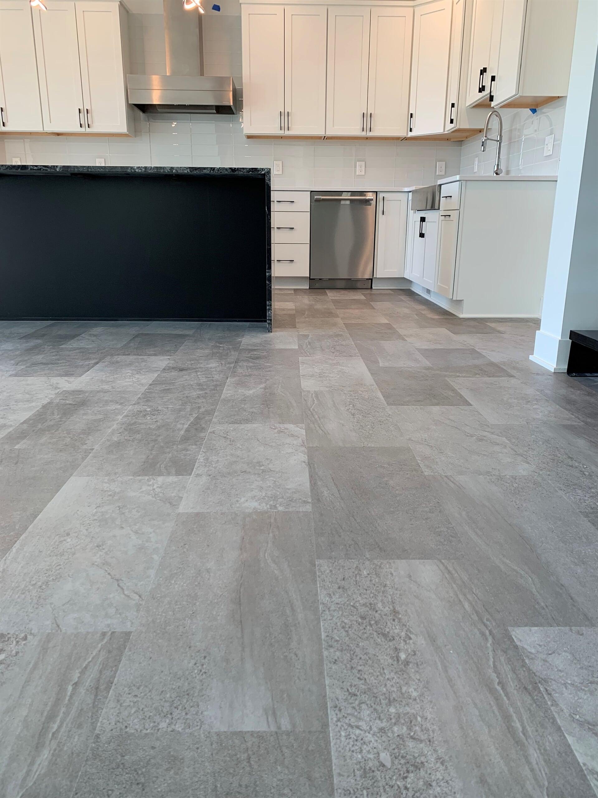 Luxury vinyl tile flooring in Hudsonville, MI from Village Custom Interiors