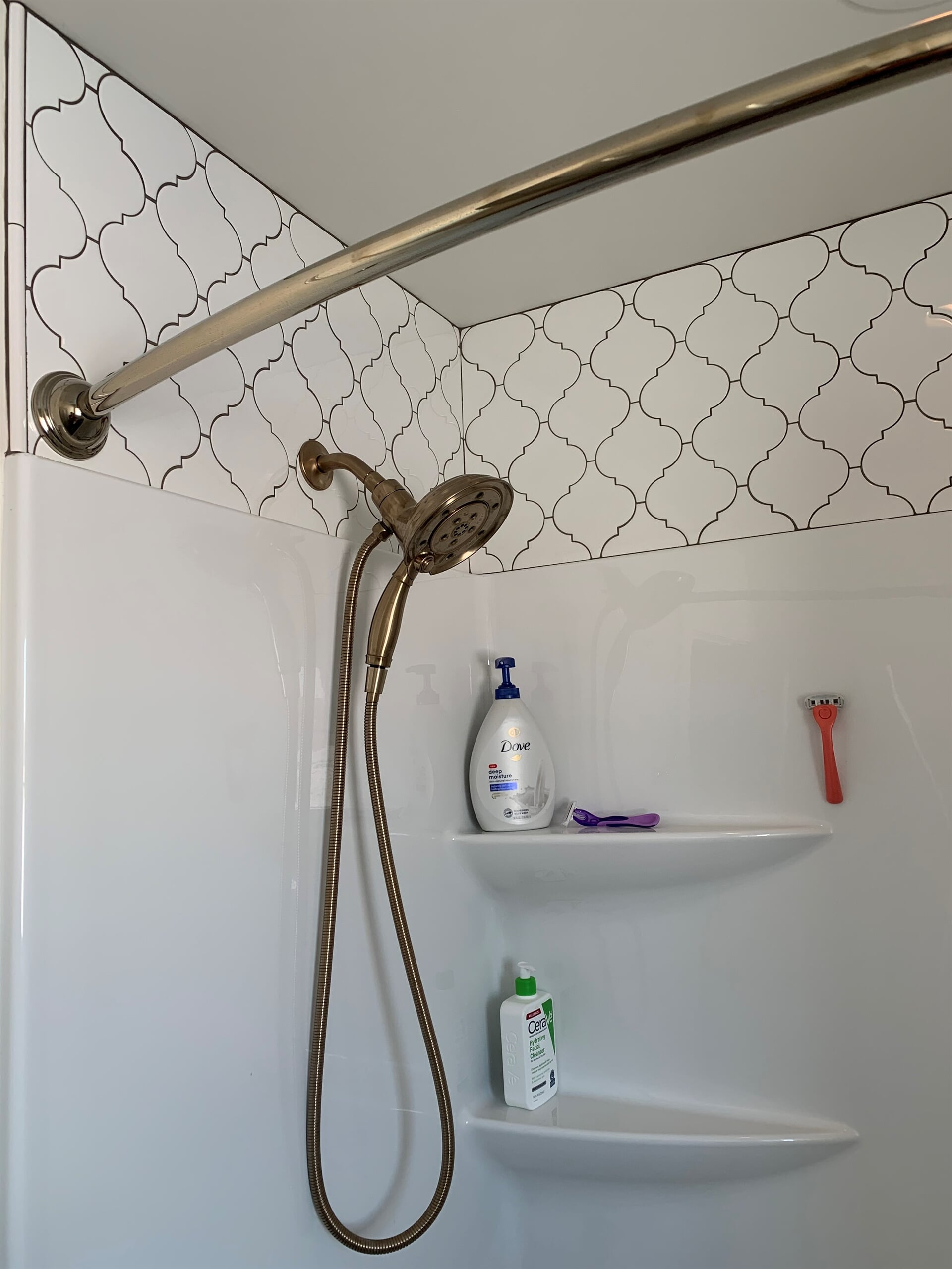 Shower Surround Tile to Ceiling in Grandville, MI from Village Custom Interiors